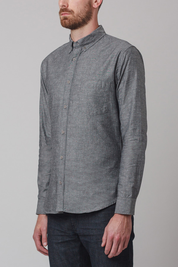 Men's Corridor Chambray Pindot Long Sleeve Shirt