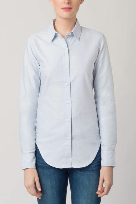 Raleigh Denim Classic Button Down Blue Oxford