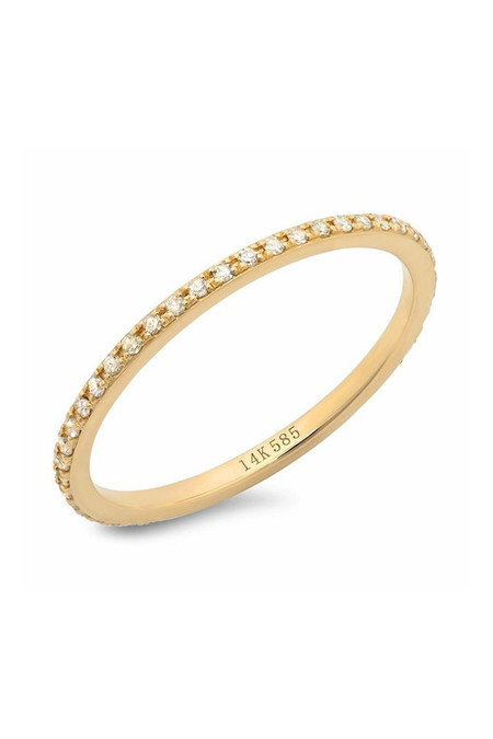 Sachi Jewelry Classic Micro Eternity Band 14k Yellow Gold