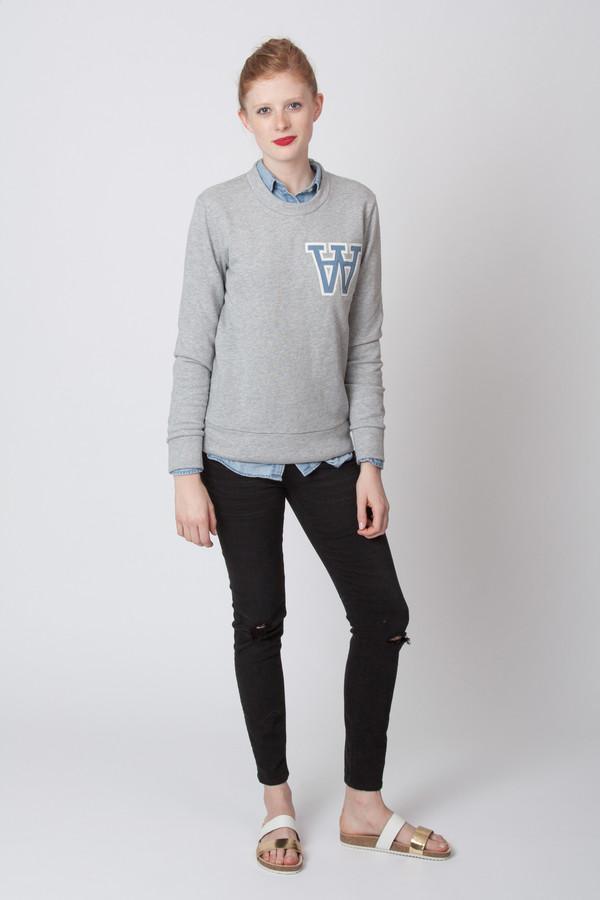 Wood Wood Maya Sweatshirt Grey