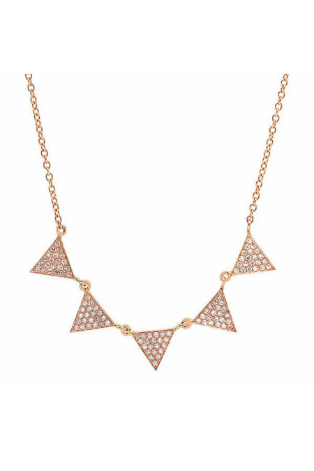 Sachi Jewelry Multi Triangle Drop Necklace
