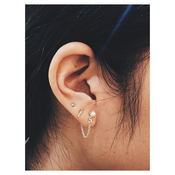 Bing Bang NYC Pearl Continuous Earrings