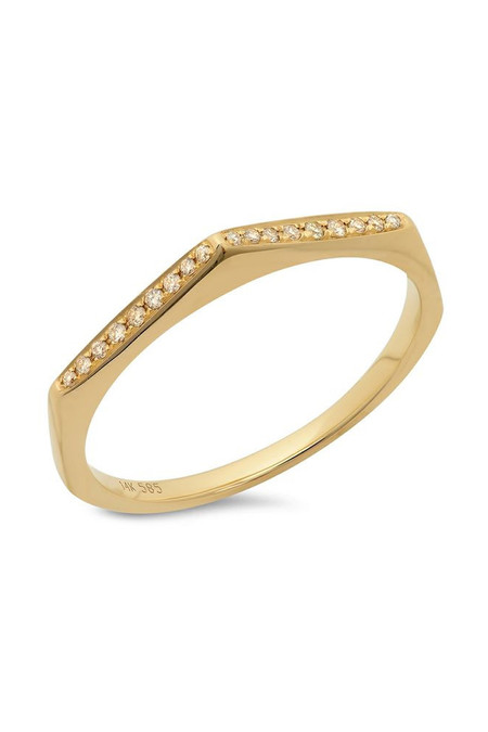 Sachi Jewelry Pointed Stacking Ring 14k Yellow Gold
