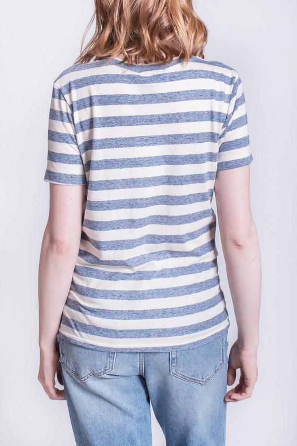 Calder Rampling Chambray Stripe Tee