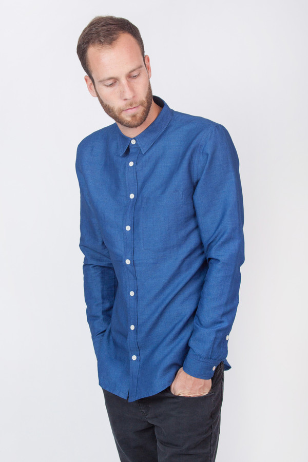 Men's Chinti and Parker Slim Fit Chambray Shirt