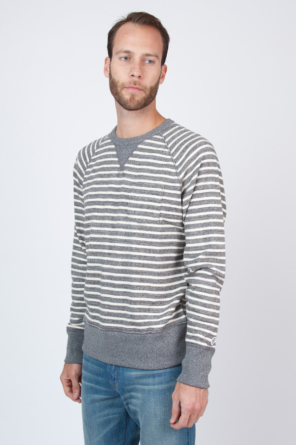 Men's Todd Snyder Champion Stripe Pocket Sweatshirt
