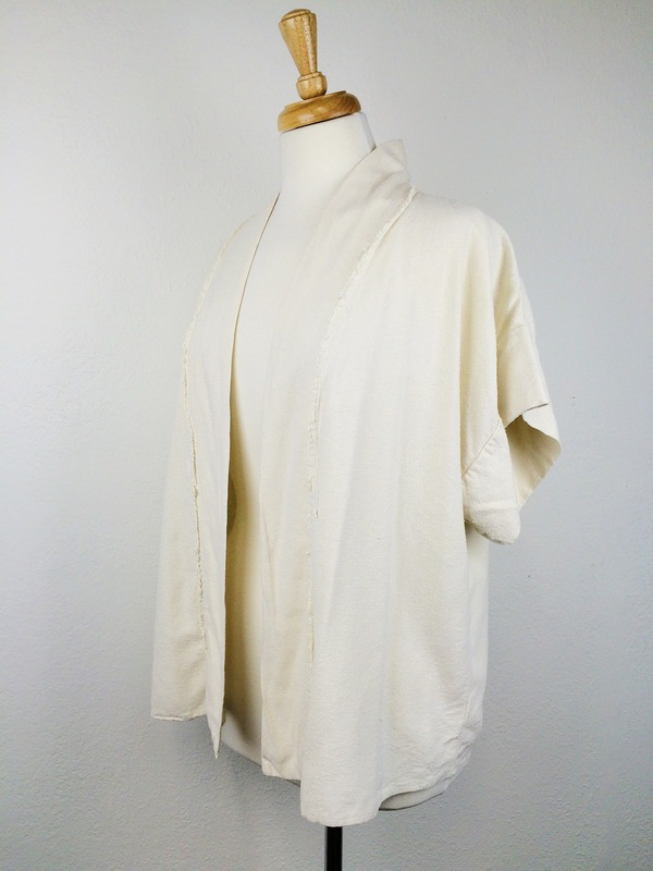 Black Crane Kimono Jacket
