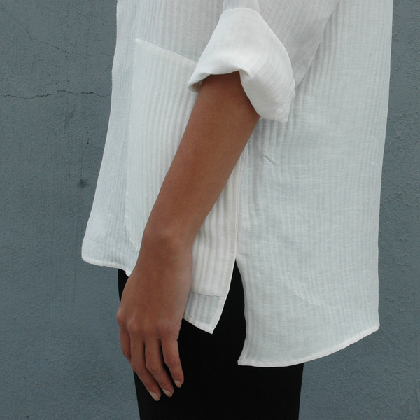 Nikki Chasin Gardener Silk Linen Tunic