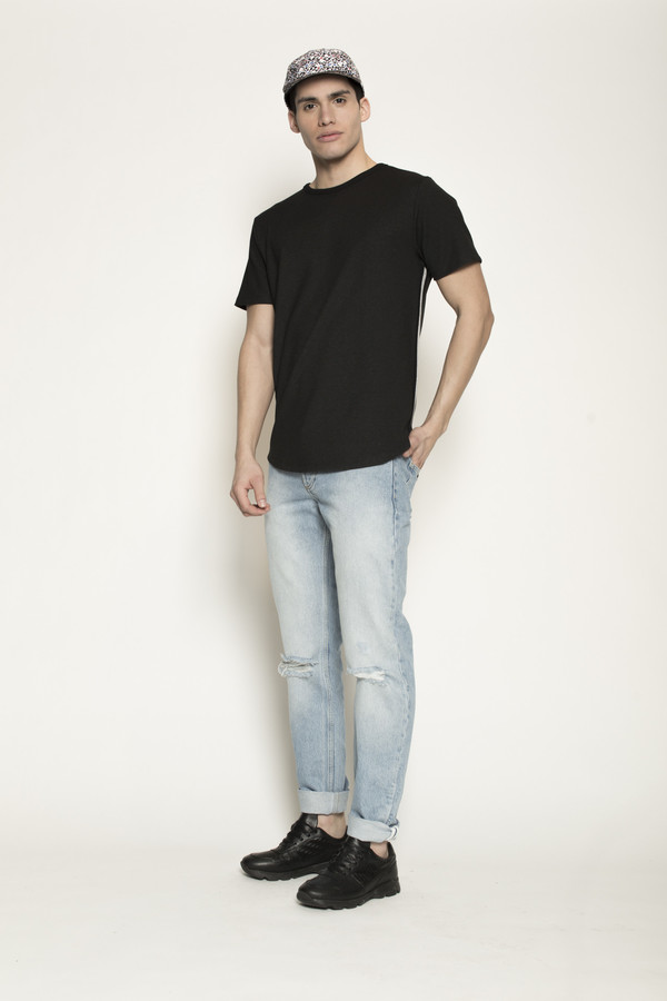 Men's Soulland Gummy Black Shirt in Black