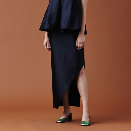 Nikki Chasin Adria Slit Skirt - Dark Navy
