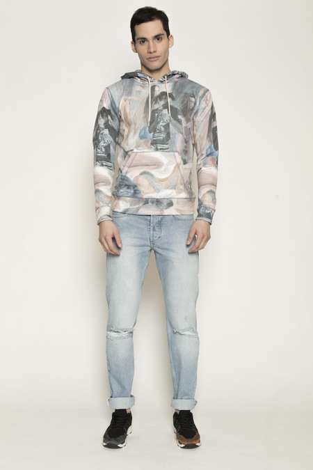 Men's Soulland Holm Hooded Sweat in Multi