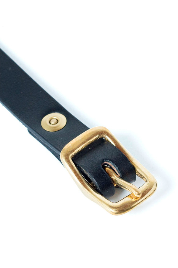Wood &F aulk Matchstick Belt Black