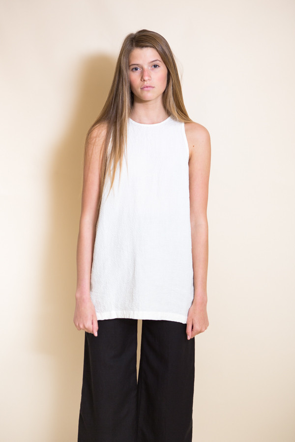 First Rite Tunic Tank / White
