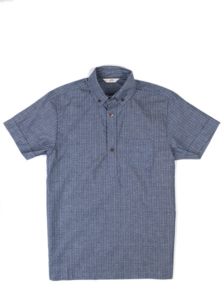 Men's 3Sixteen Popover SS Indigo Diamond