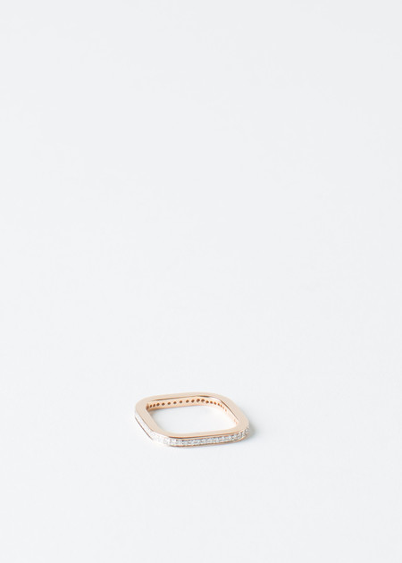 Ginette NY Rose Gold Diamond TV Ring