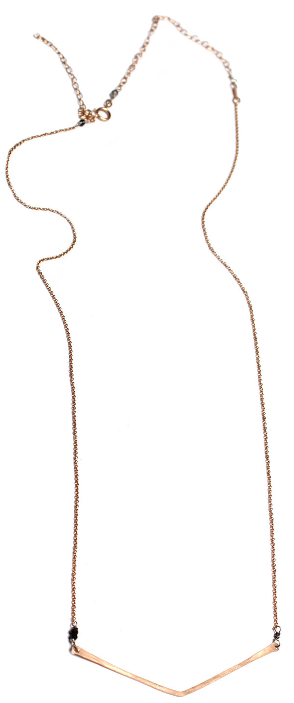 Sarah Dunn Rose Gold V Necklace