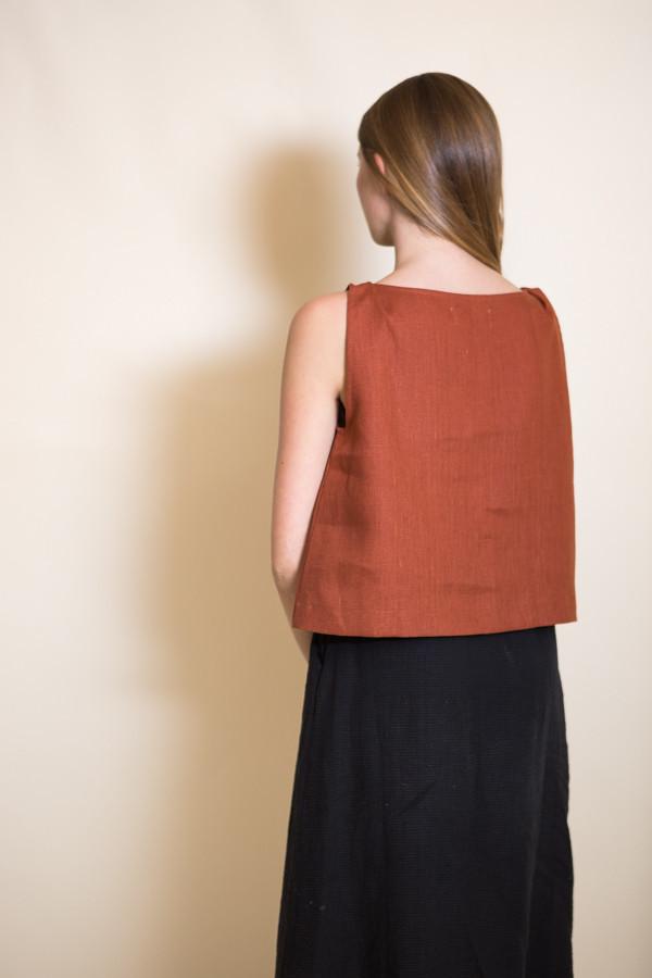Ursa Minor Meg Top / Terracotta Linen