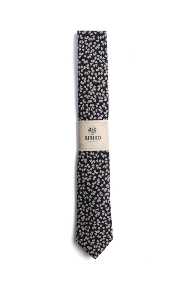 Men's Kiriko Indigo Sakura Petals Tie