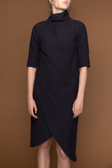 Ajaie Alaie Double Drape Dress