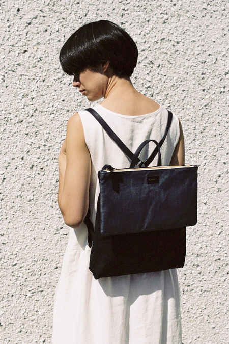 Clare V. Agnes Backpack - denim