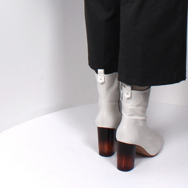 L'Intervalle Nerina Boots (White Leather)
