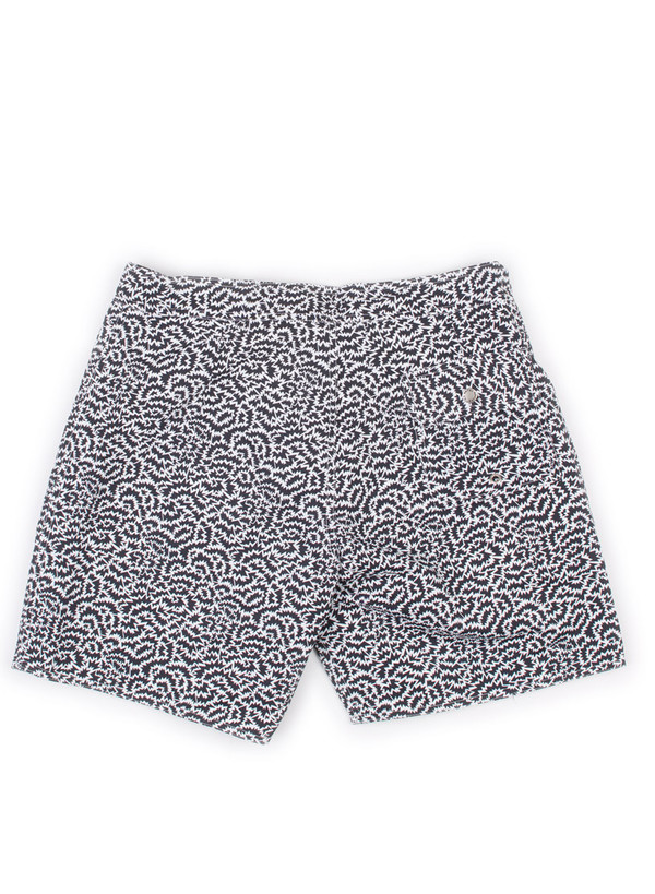 Men's Bather Black Zigzag Surf Trunk