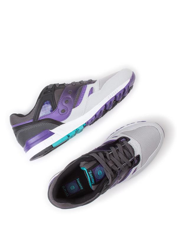 Men's Saucony Grid SD Grey/Purple