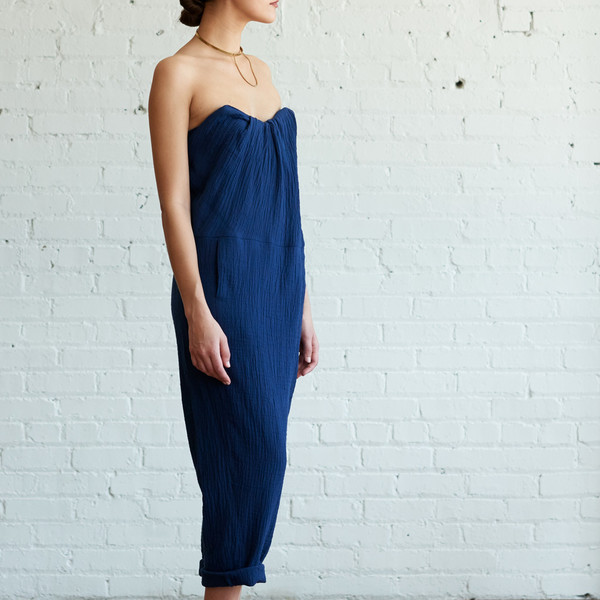 A Detacher Orinoco Jumpsuit Indigo