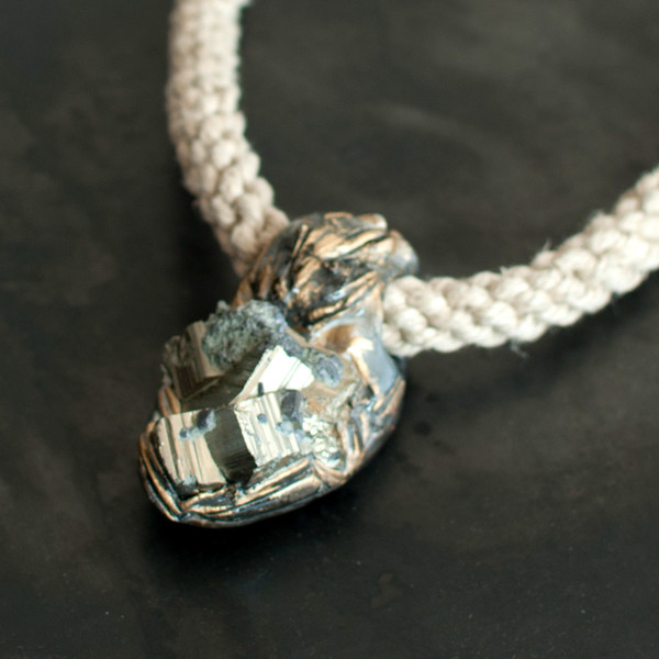 Adina Mills Pyrite Cluster Pendant Necklace