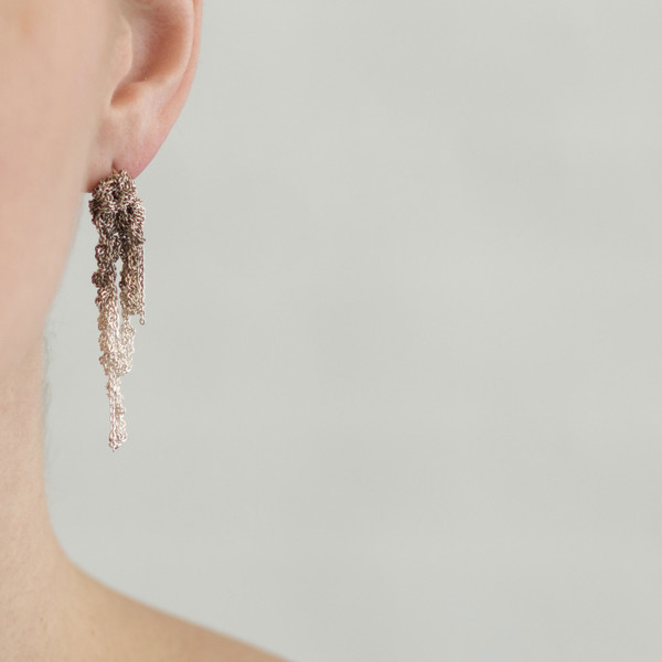 Arielle De Pinto Drip Earrings Silver Gradient - SOLD OUT