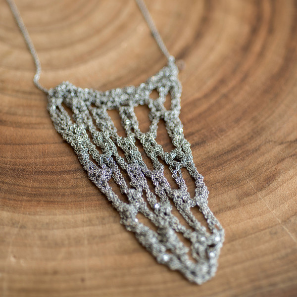 Arielle De Pinto Netted Drop Necklace