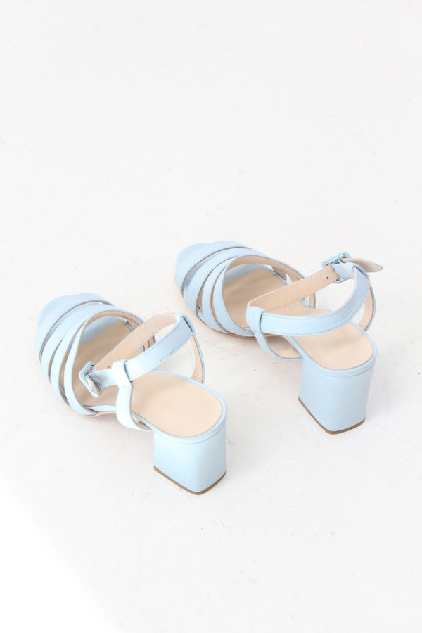 Maryam Nassir Zadeh Palma High Heel Sandal Sky Blue