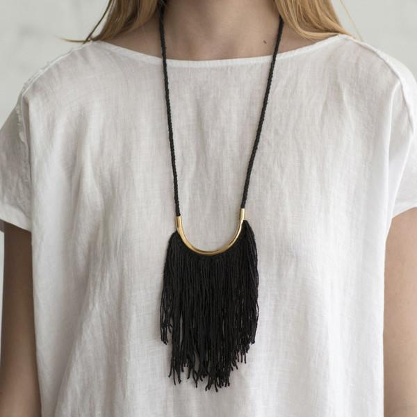 Erin Considine Lunate Fringe Necklace - SOLD OUT
