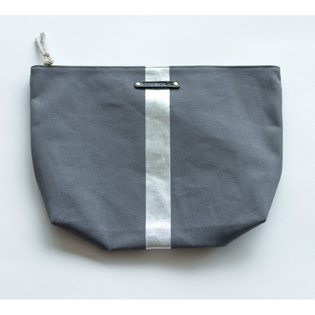 Kempton & Co Metallic Stripe Beach Pouch