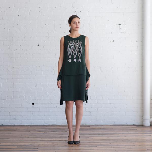 Megan Park Deco Shellwork Crepe Dress - SOLD OUT
