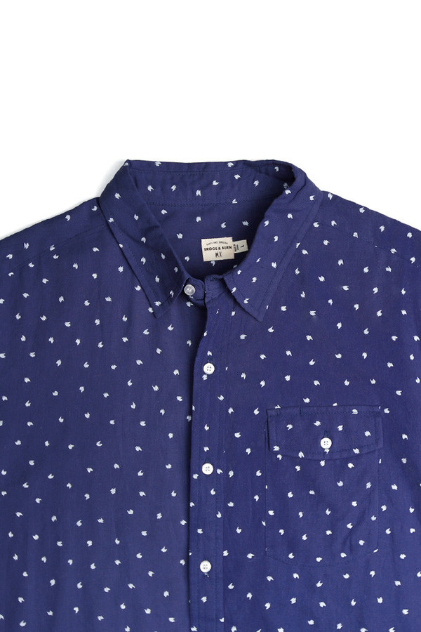 Men's Bridge & Burn Thomas Navy Print