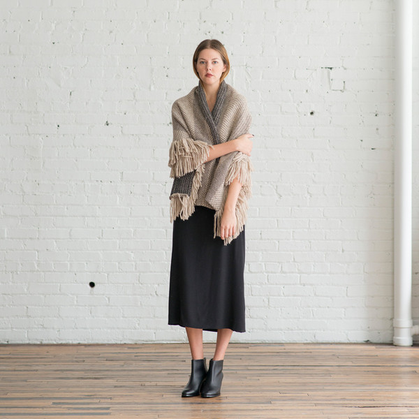 Rachel Comey Fringe Wrap Taupe - SOLD OUT