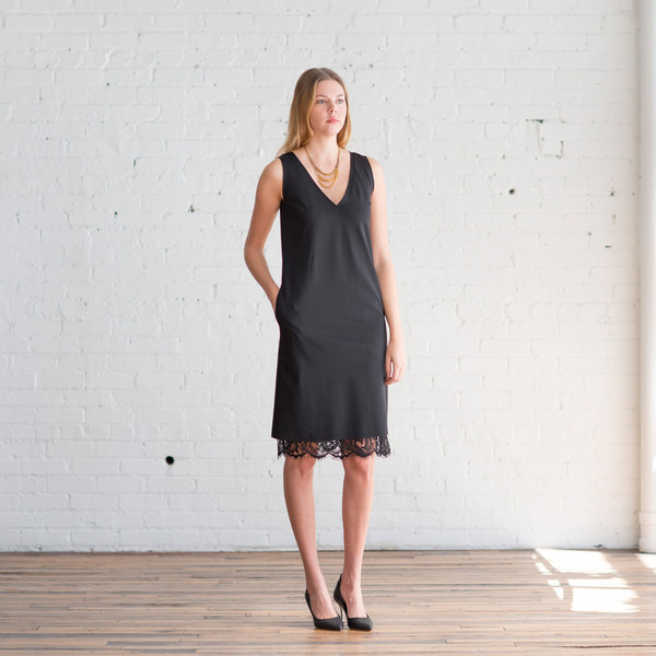 Tome Ponti V-Neck Dress Black