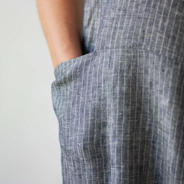 StudyNY Tank Suit in Grey Stripe
