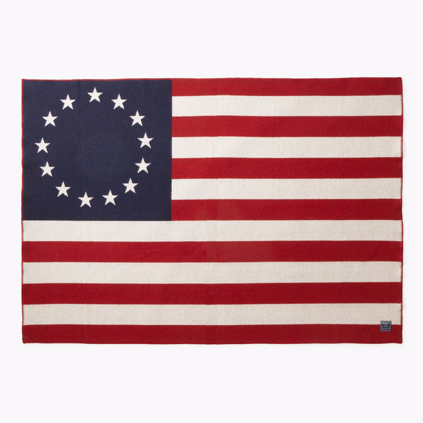Faribault Betsy Ross Flag Wool Throw