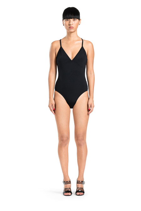 BETH RICHARDS Barre One Piece - Black CLASSIC ONE PIECE WITH CRISS CROSS BACK
