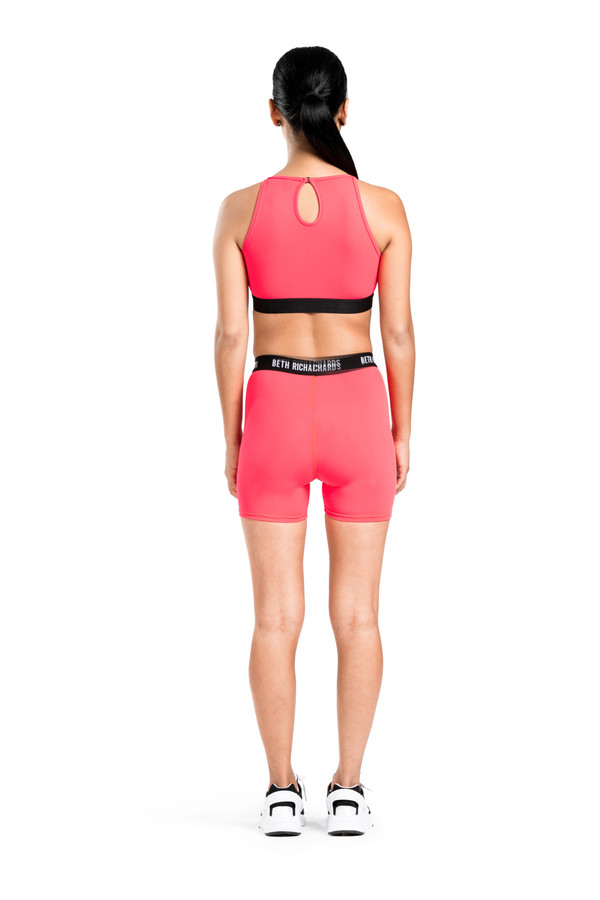 BETH RICHARDS Fel Top - Cerise CROP TANK WITH KEYHOLE BACK