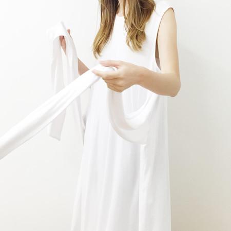 Shelby Steiner White Tie Dress