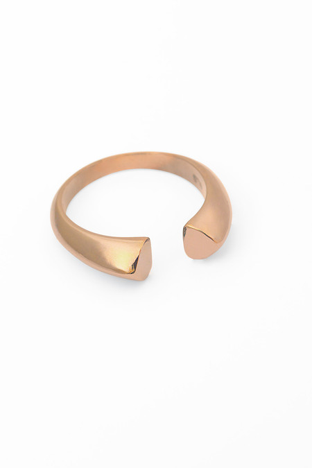 Slight Jewelry Adjustable Size Ring in 14K Rose Gold and Silver