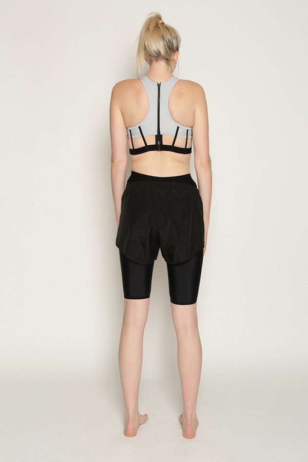 Chromat Elite Sports Bra in Black/Grey