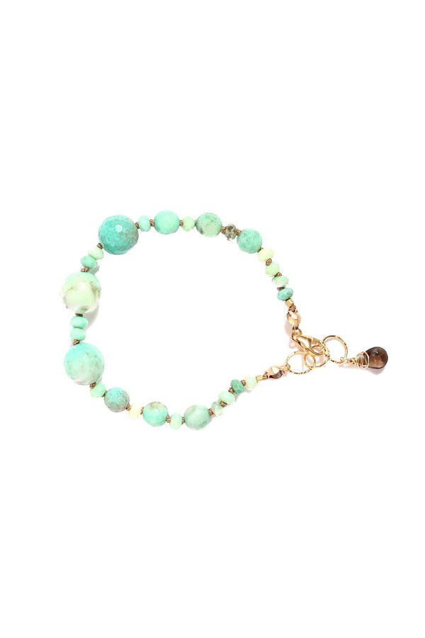 James and Jezebelle- Green Moss Agate Bracelet