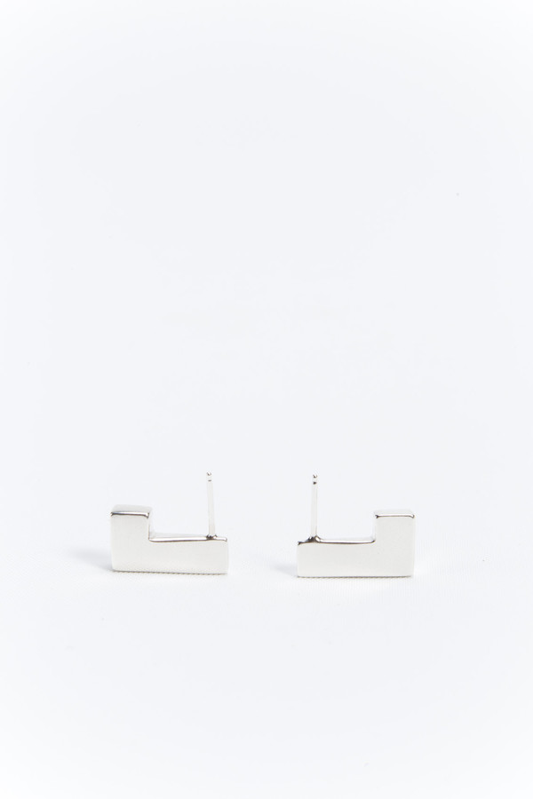 NEAL Jewelry Axiom Earrings Silver