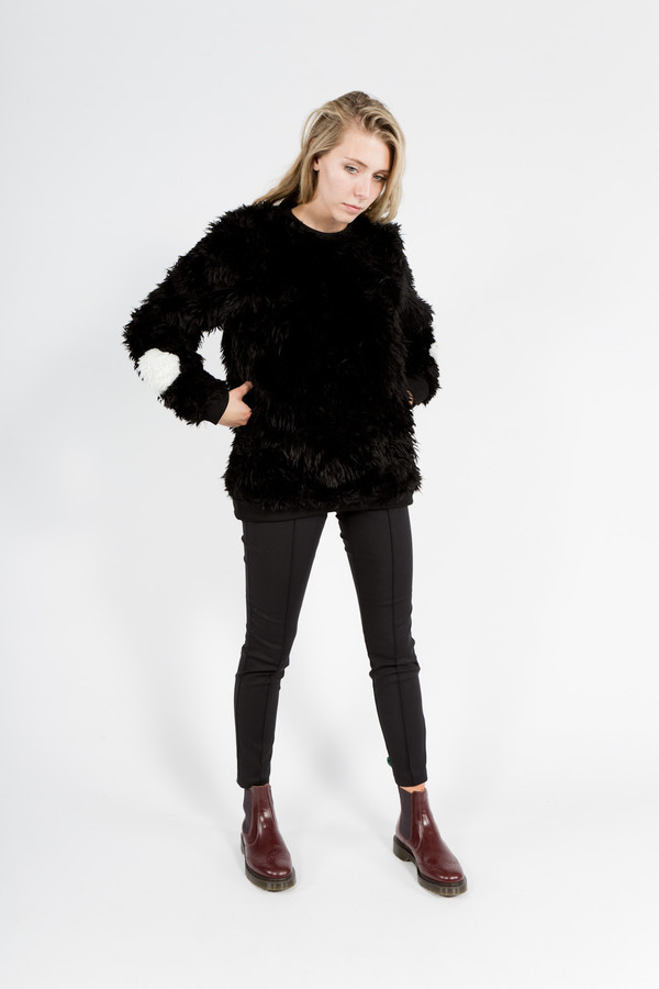 Samuel James Faux Fur Sweater