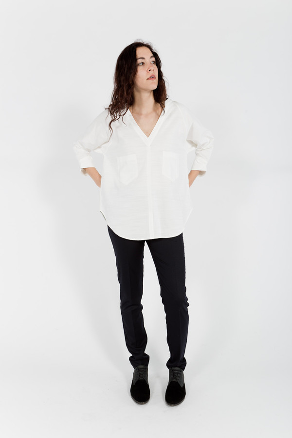 Studio Nicholson Juan Sleeve Cotton Top