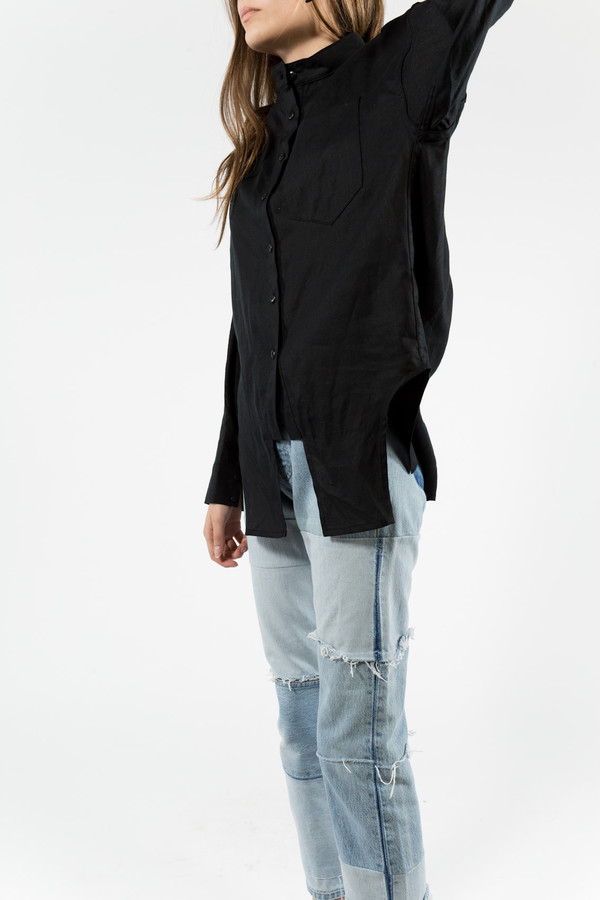 Eckhaus Latta Linen Button Down